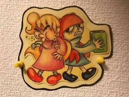 Art Trade: Luna and Maple by AngryMaxFuryStreet