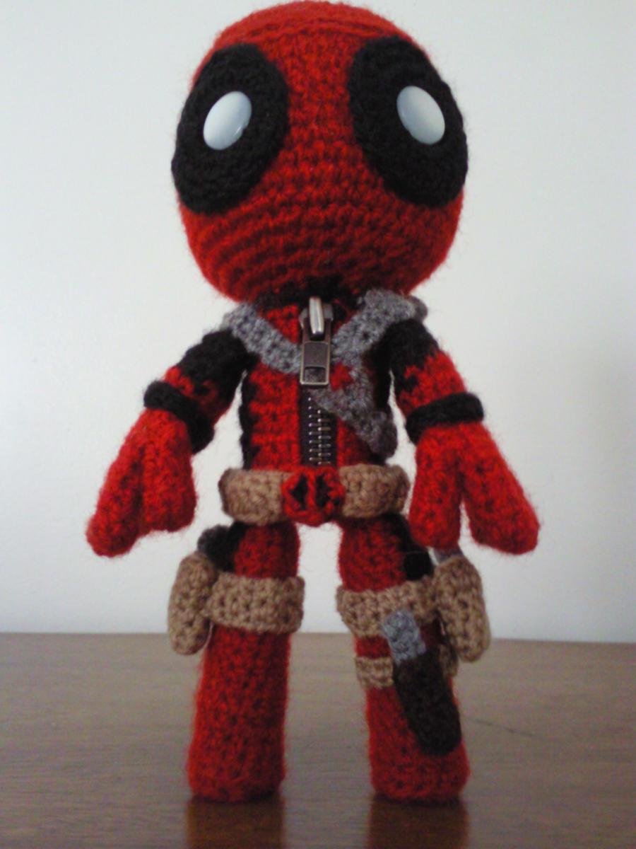 Crochet Wedding Dress Pattern Doll : DeadPool Sackboy by Sackboyncostume on DeviantArt
