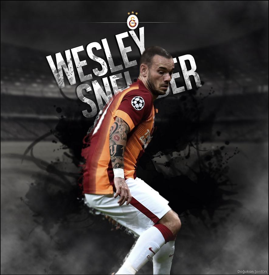Wesley Sneijder Poster Dogukan Senturk by designerleite on