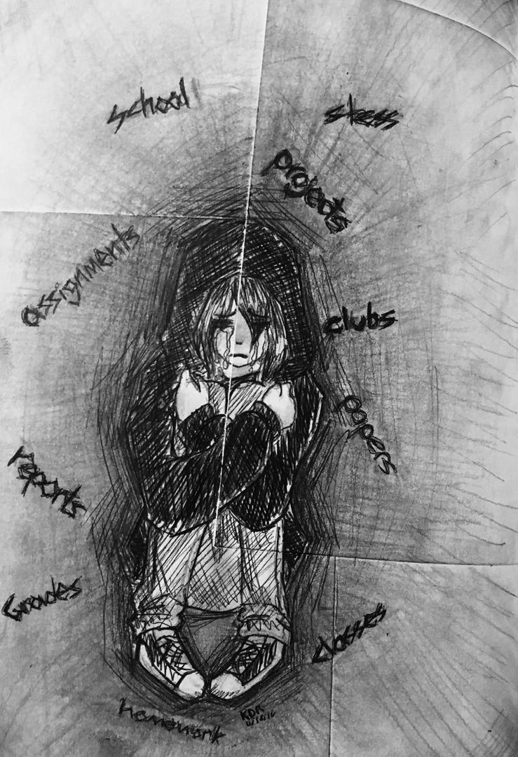Pressures of School by UNICORNKYLIE
