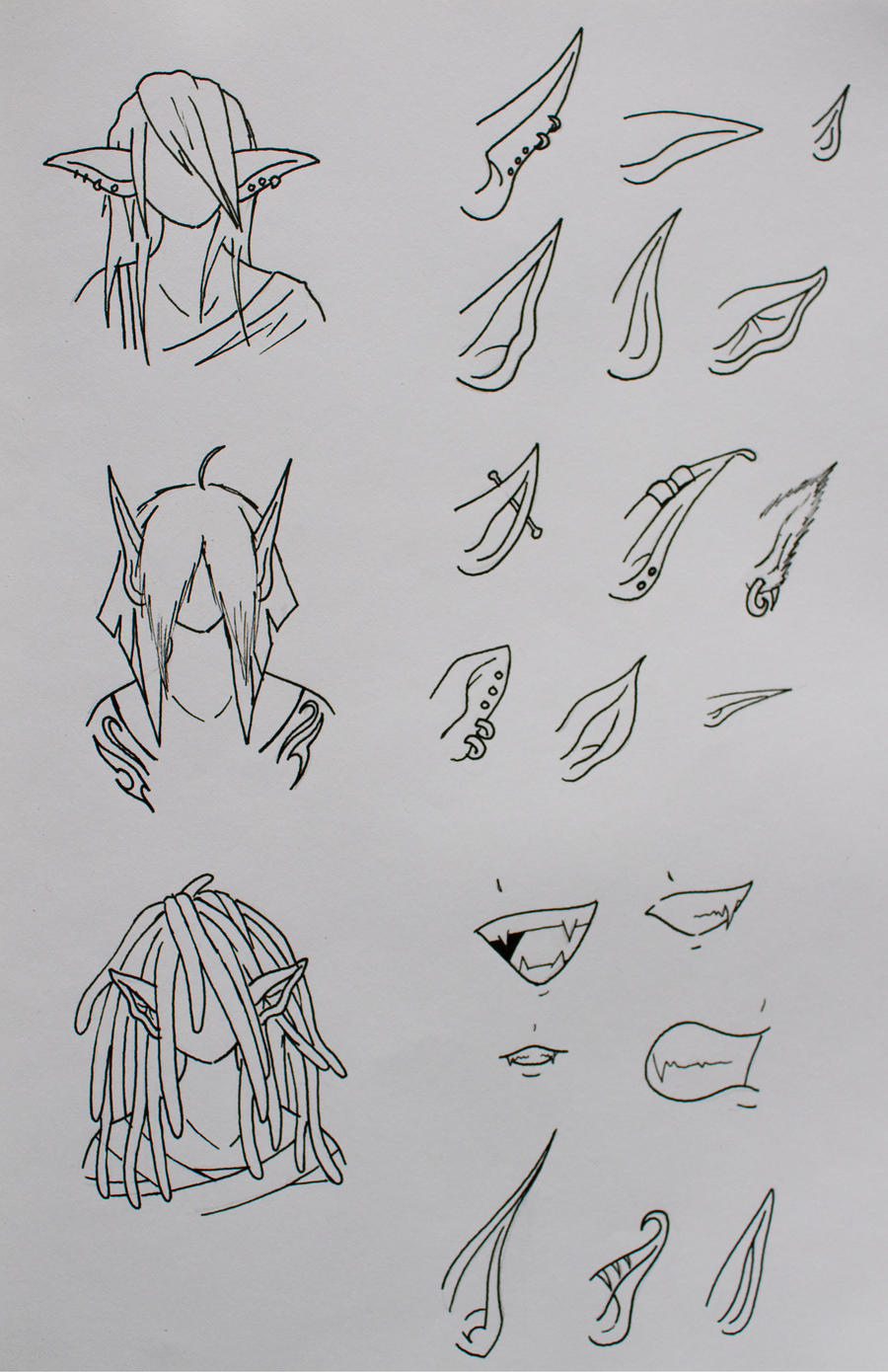 how to draw a realistic elf