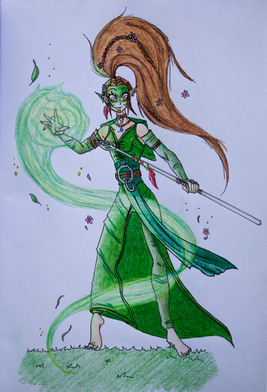 Idril Carnesir - DnD Forest elf avatar IIl by Chiichiichan94
