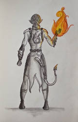 Fire bender demon