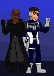 J ReVerse - Nick Fury Director of SHIELD Redesign