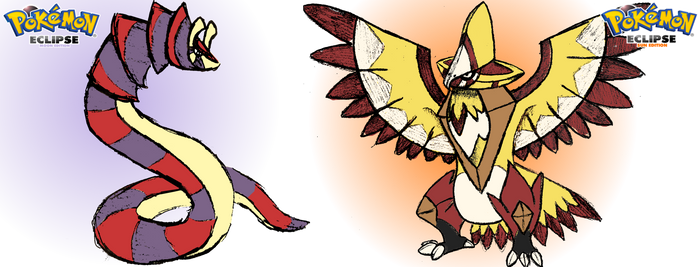 Sun Eagle and Moon Snake by OrdinLegends