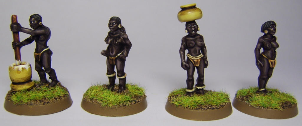 African female Villagers by FraterSINISTER