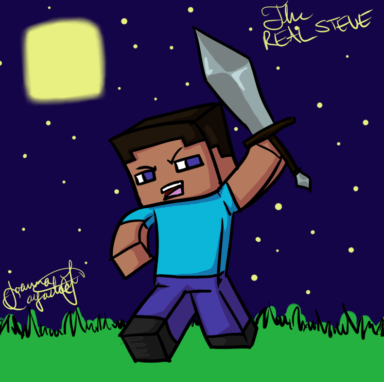 Minecraft Drawing The Real Steve By Jojoful7 On Deviantart