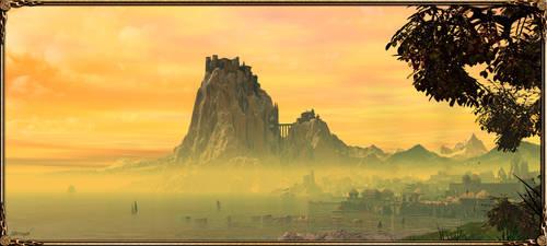Casterly Rock and Lannisport by Feliche