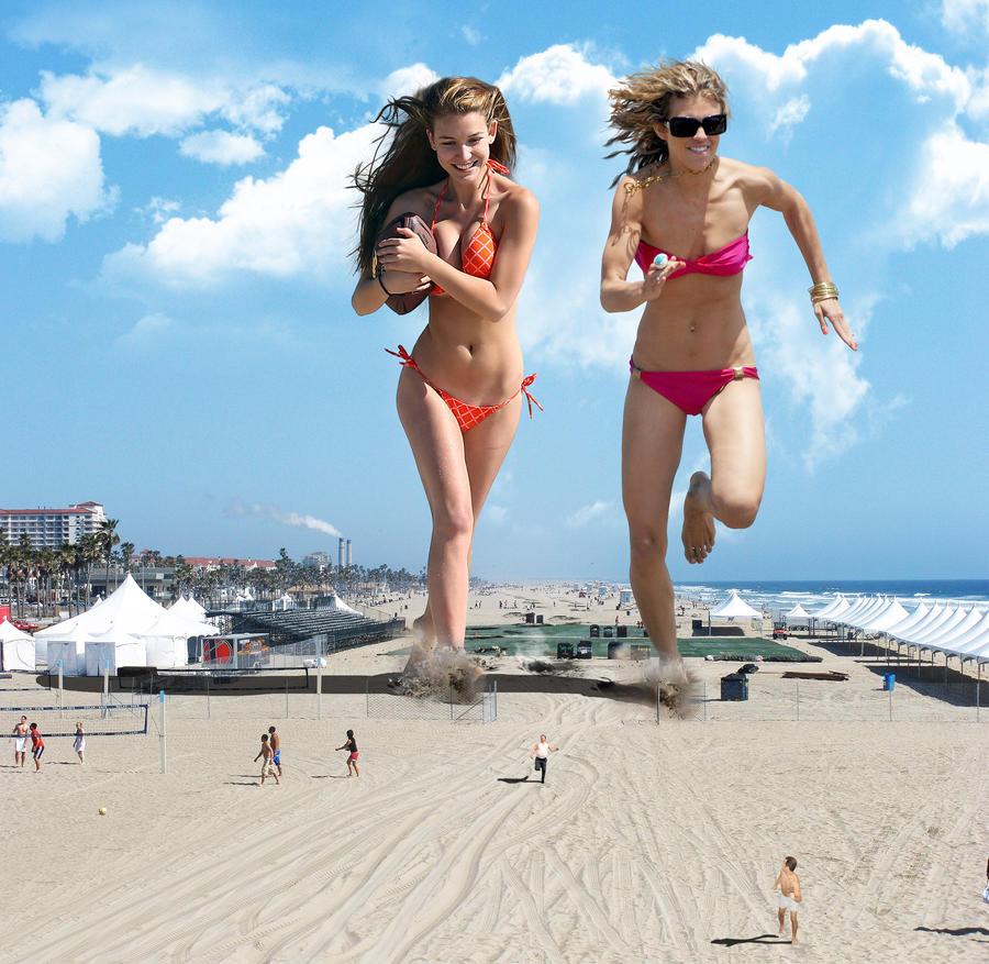 Beach Games / Nathalia Ramos / AnnaLynne McCord by The-WonderSlug