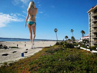 Beauty walks by on the beach / Lauren Stoner by The-WonderSlug