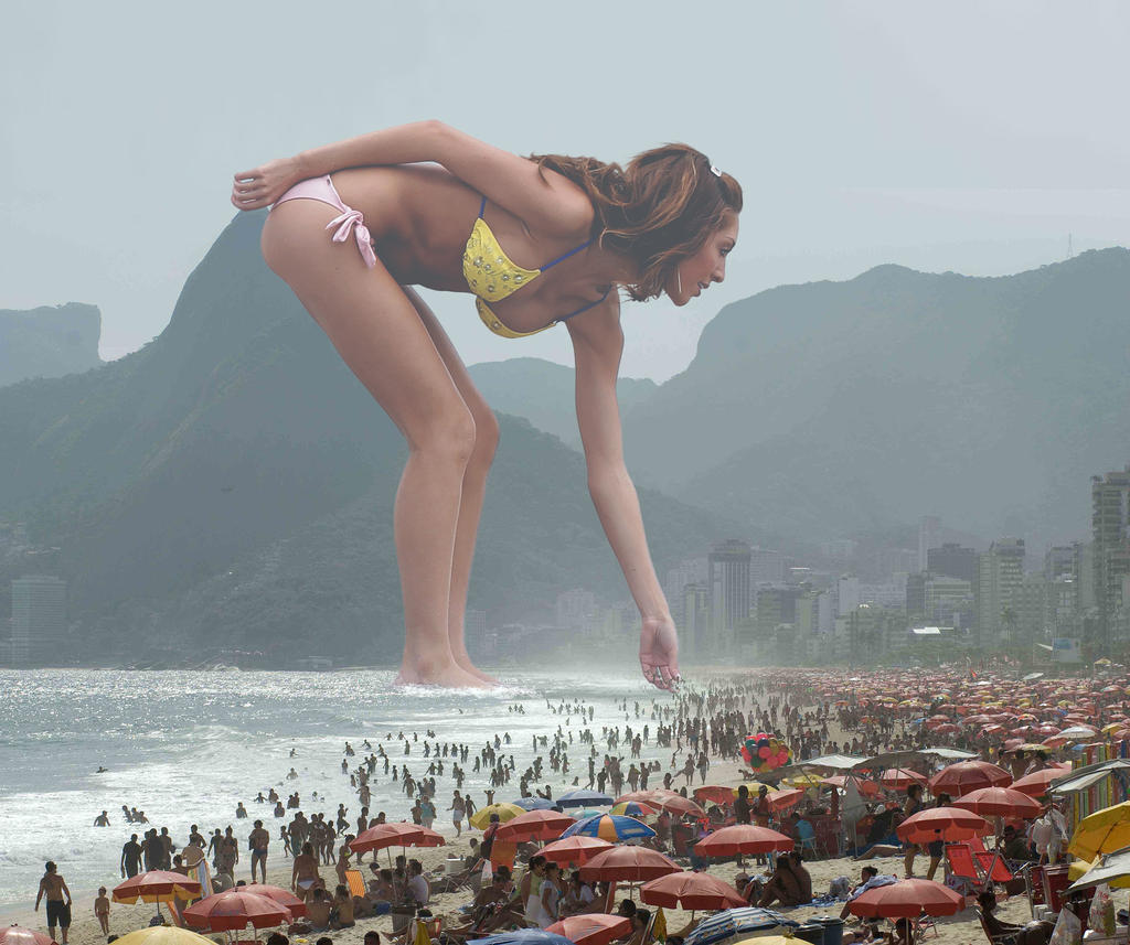 Giant Farrah Abraham terrorizes Rio De Janeiro. by The-WonderSlug