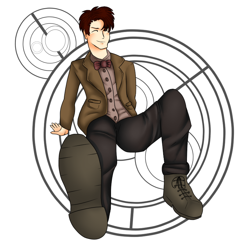 the 11th doctor fan art by a fangirl by snifftygriffty on