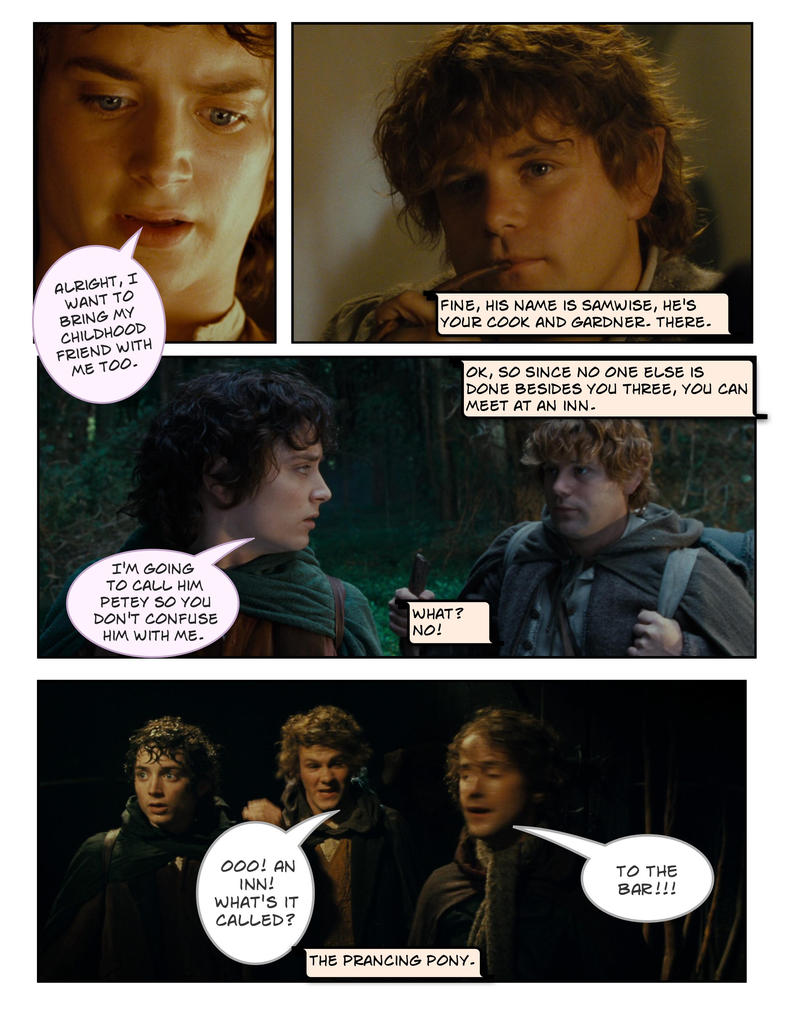 frodo and his friends want to meet
