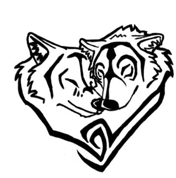 Tribal Heart Wolf Drawings Tribal Heart Drawing