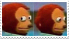 tv peru monkey stamp by teethys