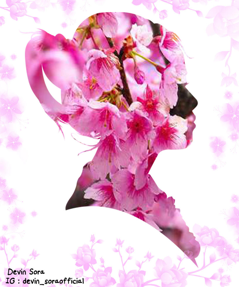Silhouette Girl [Cherry Blossom Theme] By Devinsora On