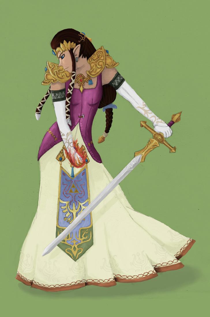 Princess Zelda by Belbecat