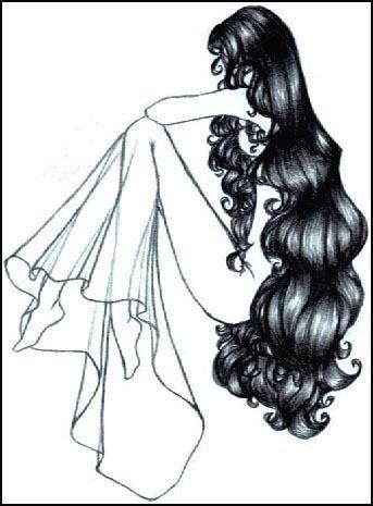 girl with long hair by oisa on deviantart