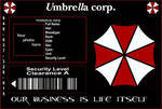 Umbrella Corp ID Template