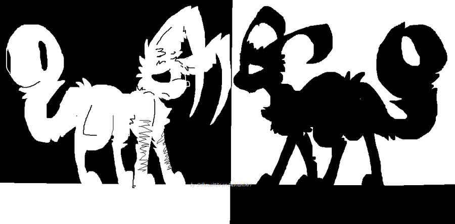 Black and white by Silhouett3s