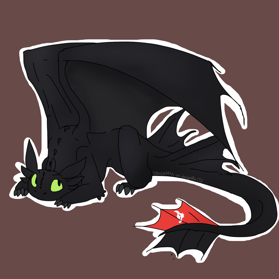 Toothless by Silhouett3s