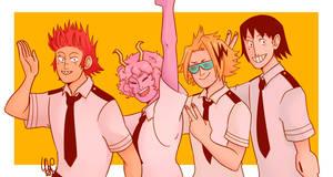 Boku No Hero Academia- Bakusquad by WhatAChaos