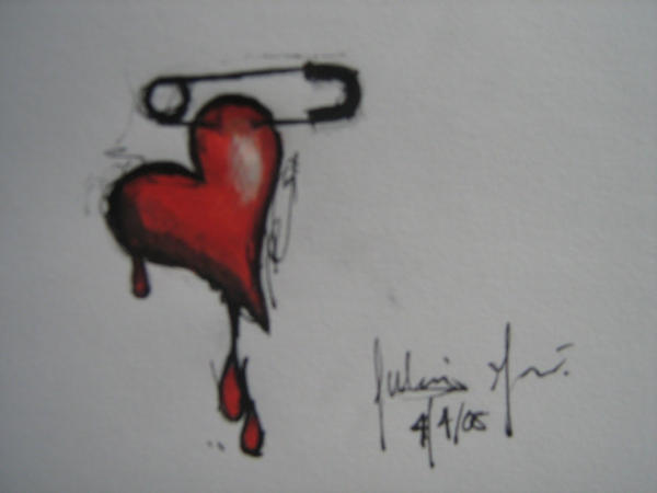 Broken Heart Tattoo Design. Tattoo Designs by Elizabeth