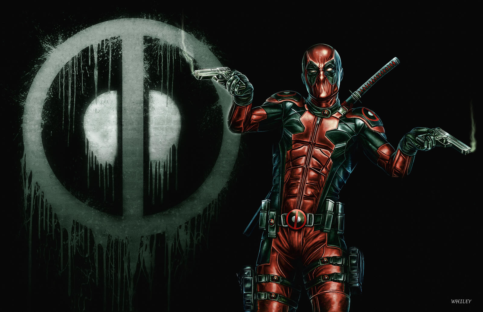 DEADPOOL COLOR VERSION by WhileyDunsmoreArt