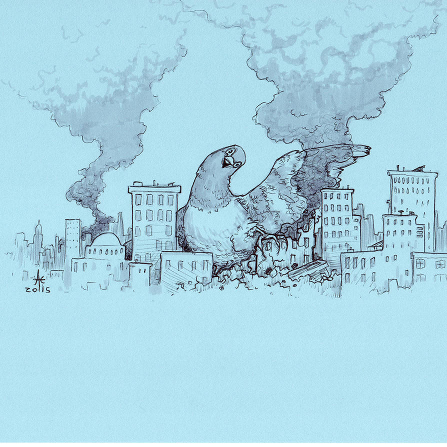 Pigeon Kaiju by Ghotire