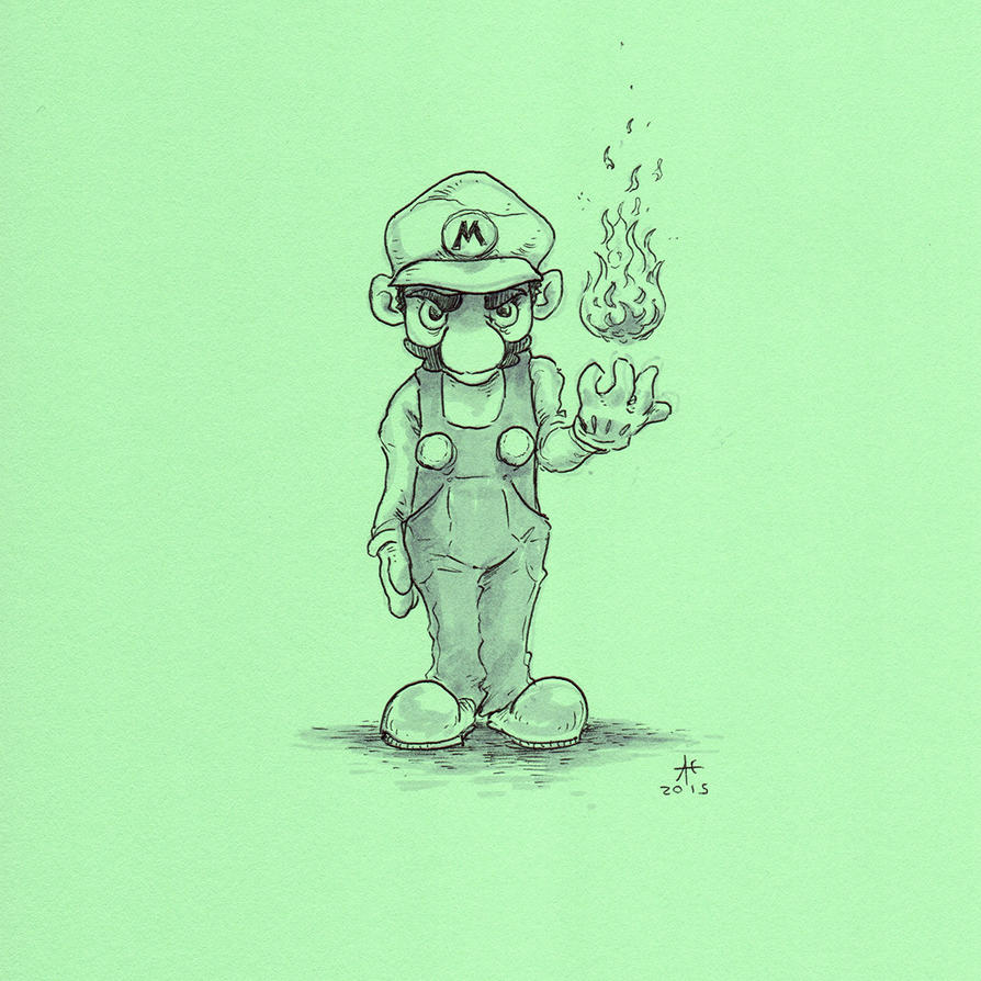 Fire Mario by Ghotire