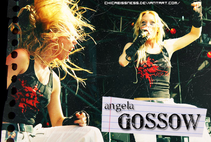 Angela Gossow. by Fists-Of-Rock
