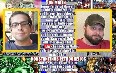 I'm going to be interviewed by Jon Malin!