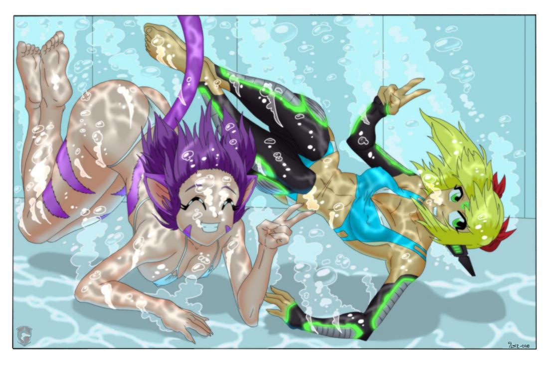 Dive into Summer - Color by anthrokidnapper on DeviantArt