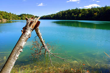 The green water of Pink Lake by PaulMcKinnon
