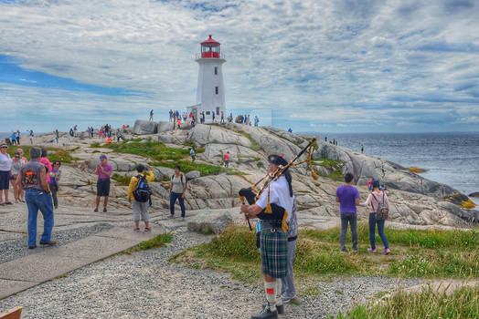 Bagpiper at Peggy's Cove