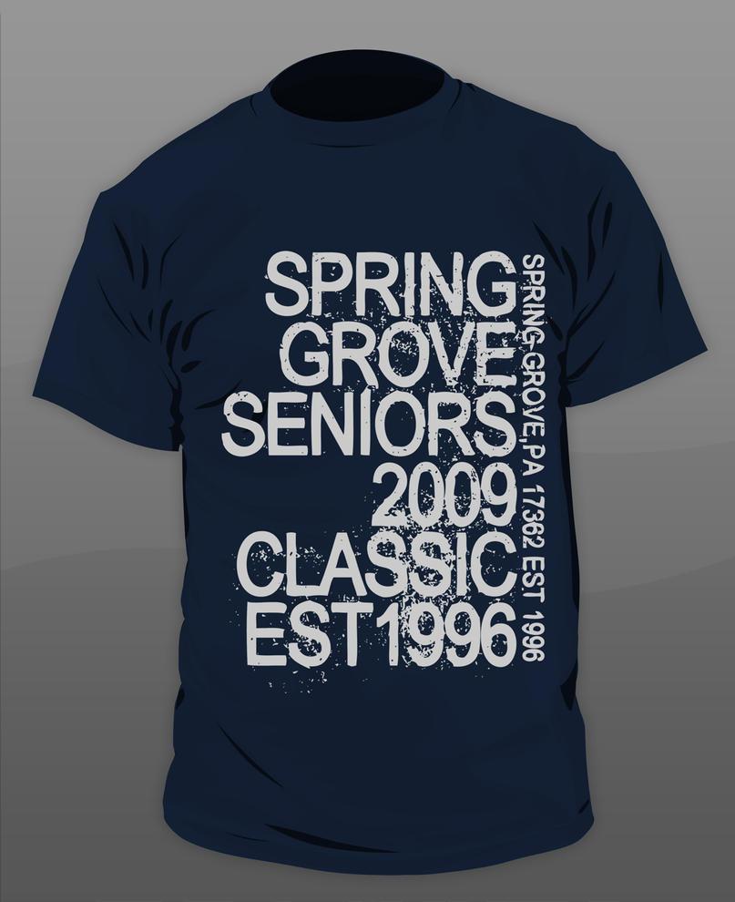 Tshirt design - Senior Class Tshirt Design By Gkgfx