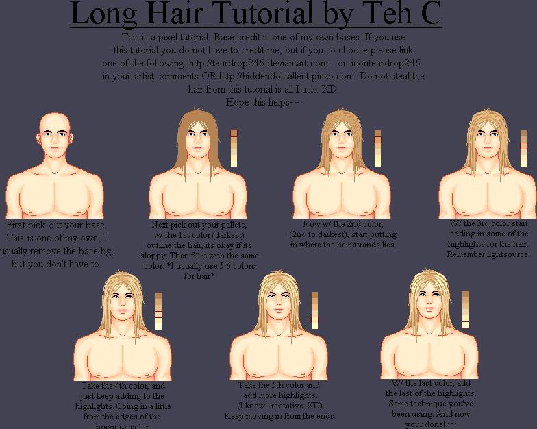 Long Hair Pixel Tutorial by teardrop246