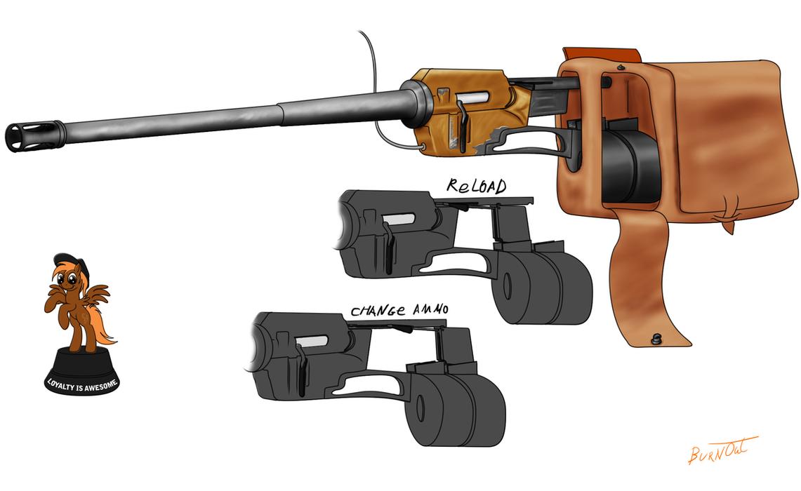 Calamity's Battle-Saddle rifle by BurnOut42
