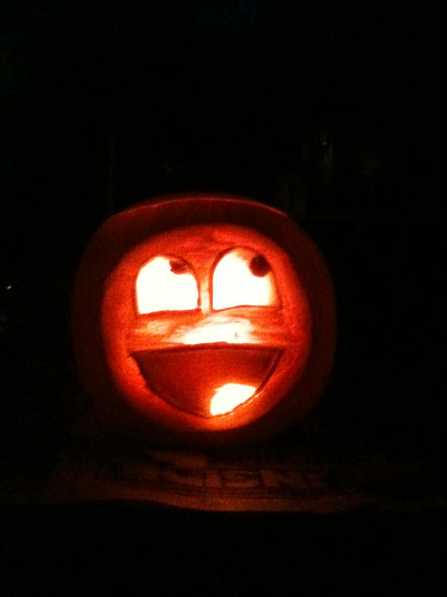 Awesome face pumpkin by bobmc6 on deviantart for Awesome pumpkin drawings