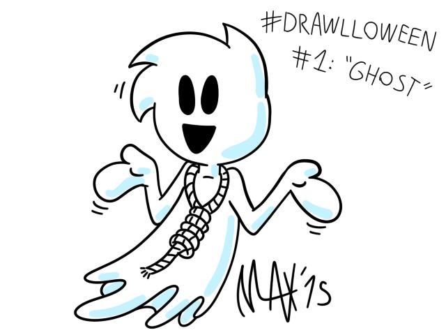 Drawlloween 01 - Ghost by megawackymax