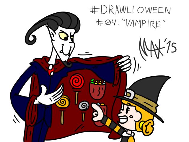 Drawlloween 04 - Vampire by megawackymax