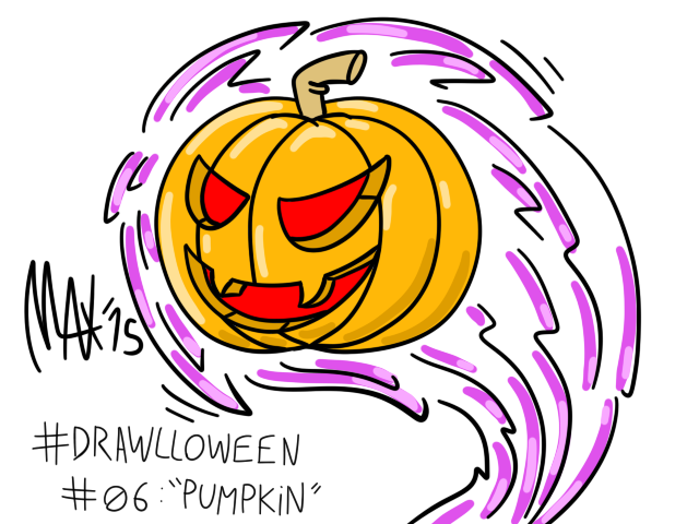 Drawlloween 06 - Pumpkin by megawackymax