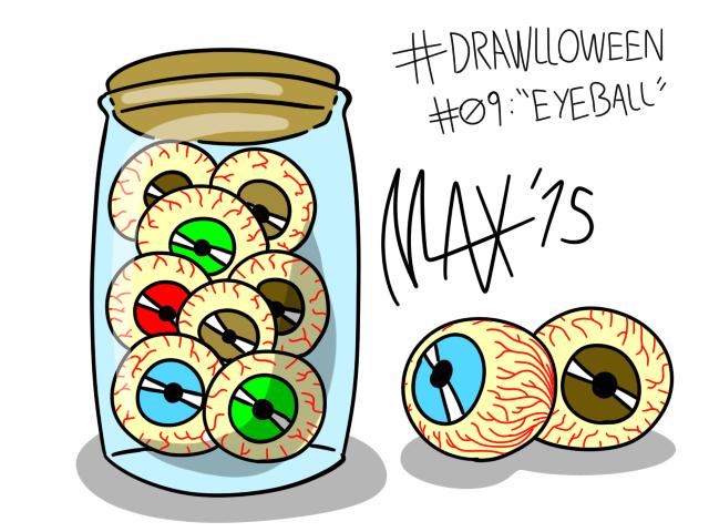Drawlloween 09 - Eyeball by megawackymax