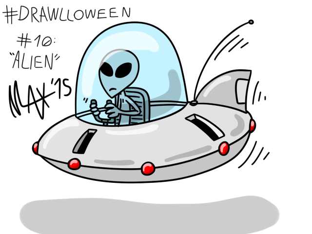 Drawlloween 10 - Alien by megawackymax