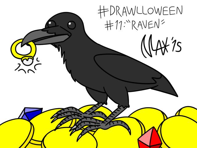 Drawlloween 11 - Raven by megawackymax