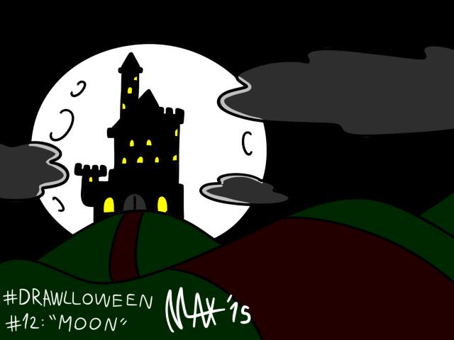 Drawlloween 12 - Moon by megawackymax
