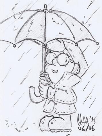 SKETCH - Rainy day by megawackymax