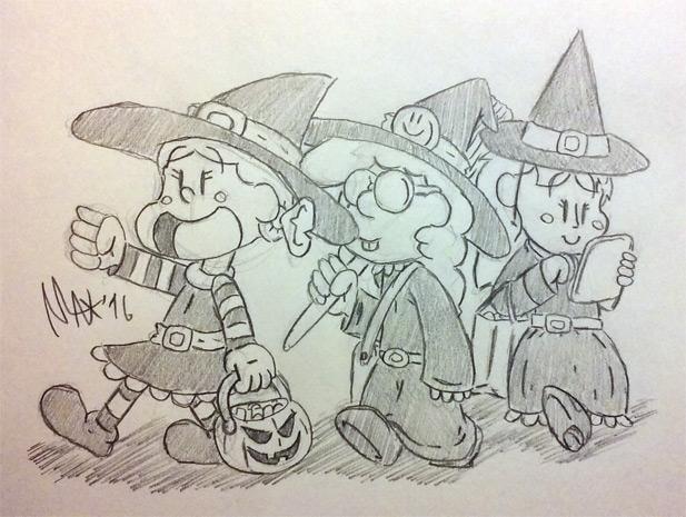 Witch Squad (original sketch) by megawackymax