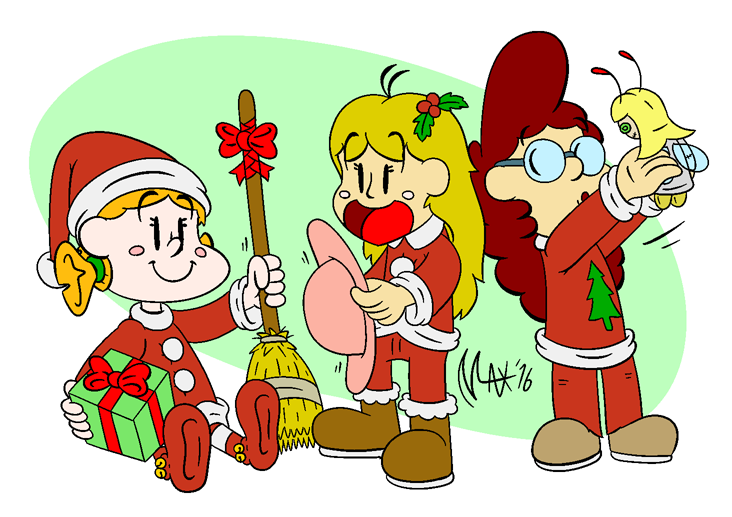 Merry Christmas from Wilfreda and her friends by megawackymax