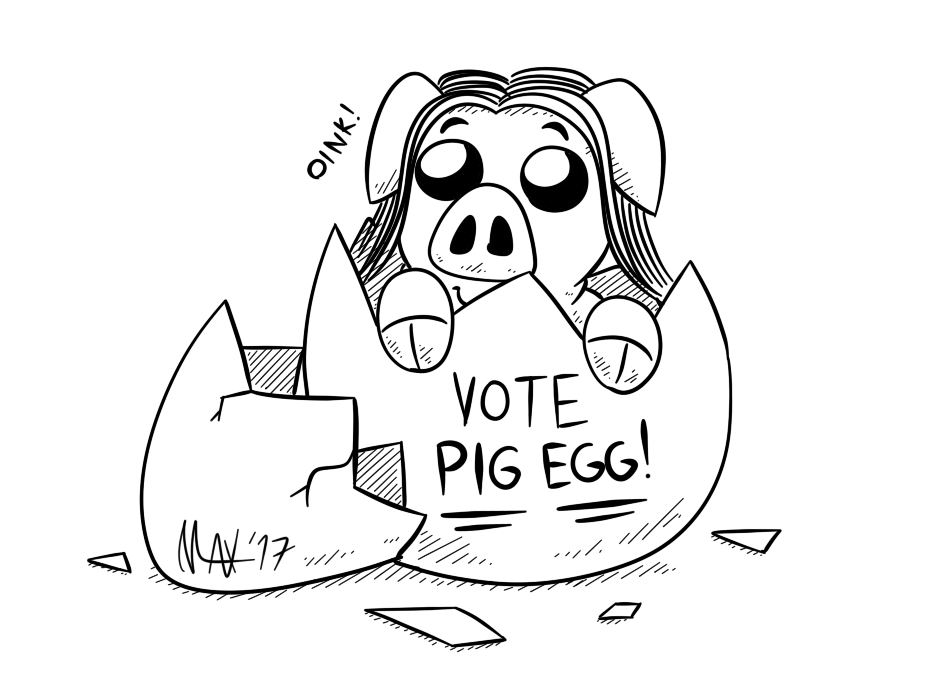 SGDQ2017 - Vote Pig Egg by megawackymax